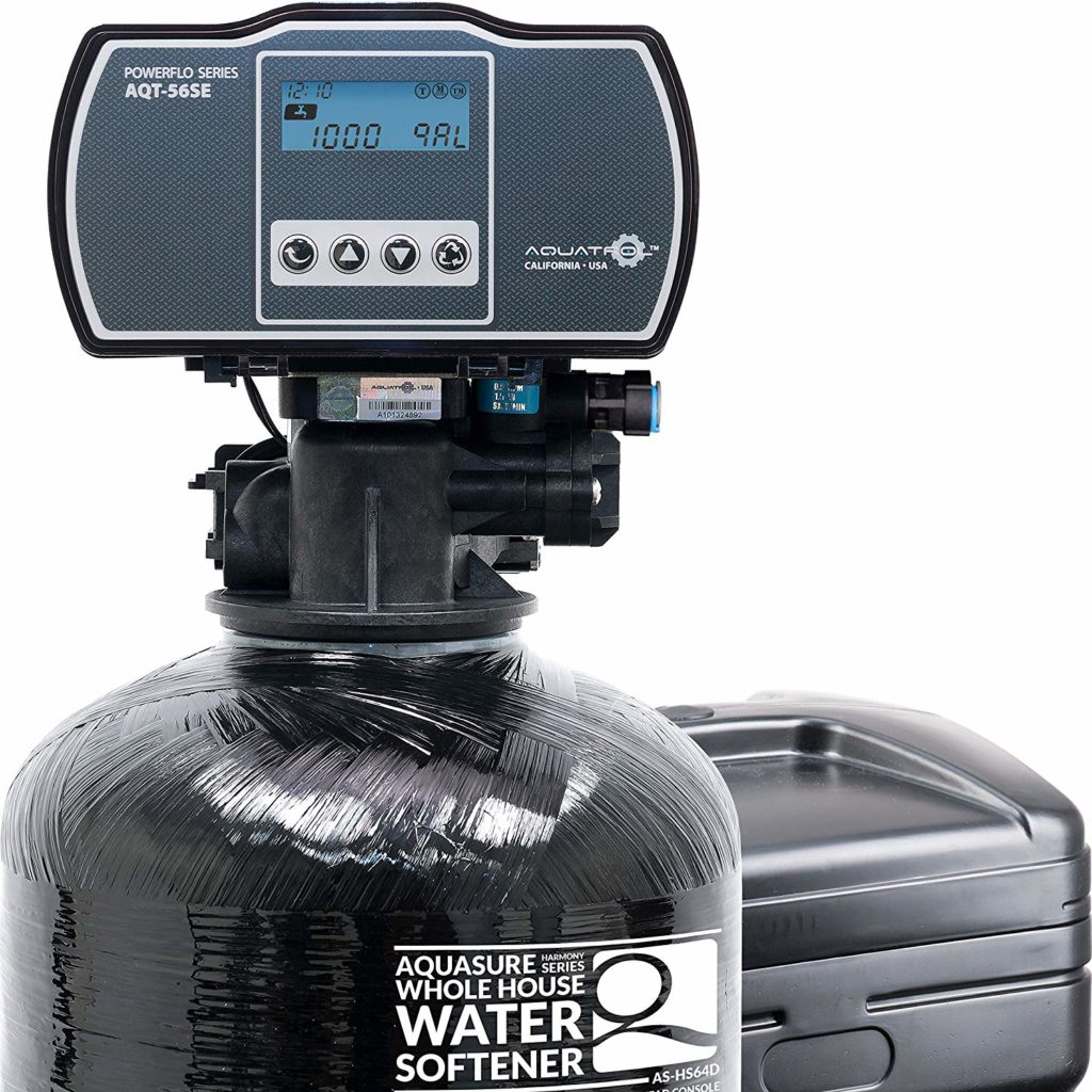 aquasure harmony series 48000 grains water softener with high efficiency digital metered control head AS-HS64D